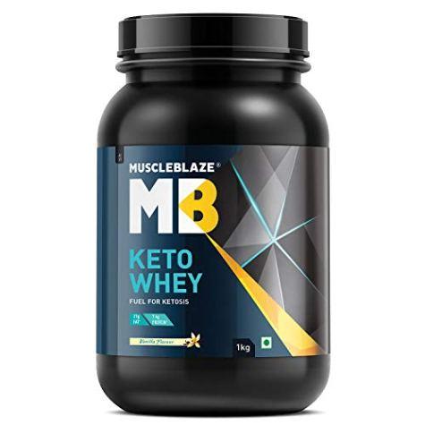 MuscleBlaze Keto Whey, 2.2 lb, Vanilla