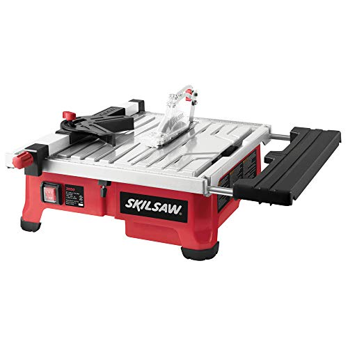 SKIL 3550 Portable BenchTop 5.0 Amp 7in Wet Tile Saw w/Hydro Lock System & Blade