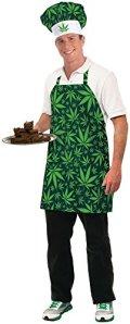 Forum Novelties Men's Cannabis Costume Baker's Hat and Apron
