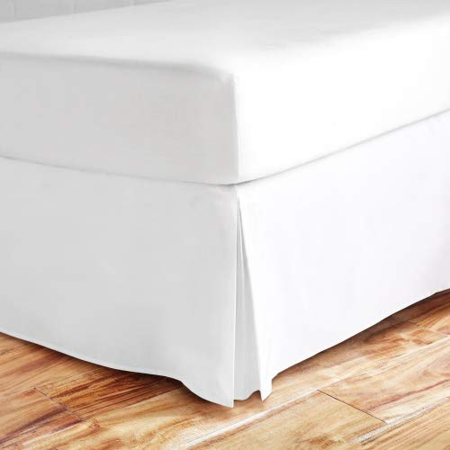 Zen Bamboo Ultra Soft Bed Skirt - Premium, Eco-friendly, Hypoallergenic, and Wrinkle Resistant Rayon Derived From Bamboo Dust Ruffle with 15-inch Drop - Queen - White