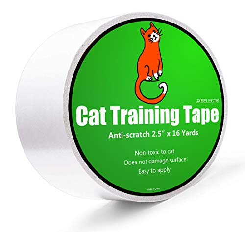 "Anti-scratch Cat Tape for Furniture - Stop Cat from Scratching Couch,Corners of Chair,Door Frame, Counter Tops and Carpet - Clear Double Sided Tape for Cat Scratching Cat Training Tape 2.5"" x 16 Yard 1"