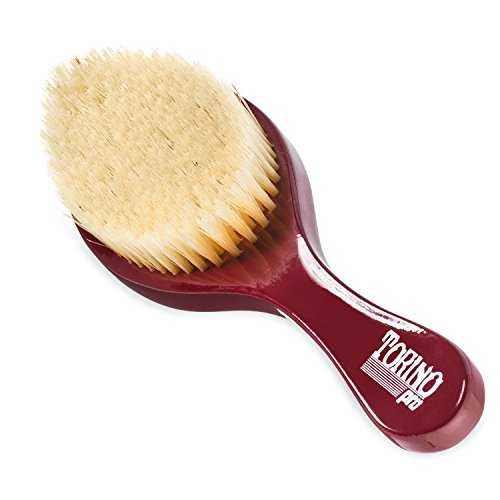 Torino Pro Wave Brush #490 by Brush King - Medium Curve Wave Brush - Made with 100% Boar Bristles - All Purpose Wave Brush Great 360 Waves Brush
