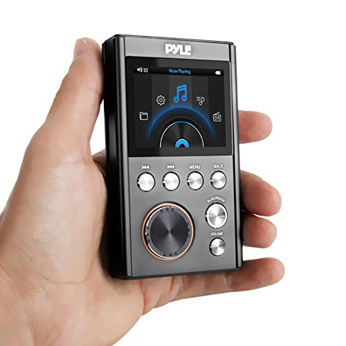 Digital MP3 Player - Portable Hi-Res MP3 Music Player | Lossless Hi-Fi Audio | Headphone Jack | Micro SD Card Slot | Up to 128GB Support | Pyle PDAP18BK.5