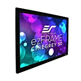 Elite Screens ezFrame CineGrey 5D, 100' Diagonal 16:9, 8K 4K Ultra HD Ready Ceiling Light Rejecting and Ambient Light Rejecting Fixed Frame Projector Screen, CineGrey 5D Projection Material, R100DHD5