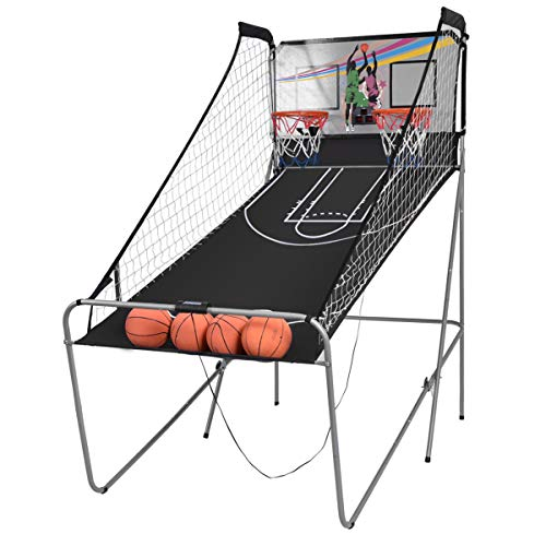 Giantex Indoor Basketball Arcade Game Sport Double Triple Electronic Hoops Shot 2 Player 3 Player W/ 4,6 Balls (2 Player)