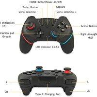 Decdeal Kablosuz BT Gamepad Oyun Joystick Denetleyicisi, Switch Pro Gamepad Anahtar Konsolu ile Uyumlu 6 Eksen Saplı 17
