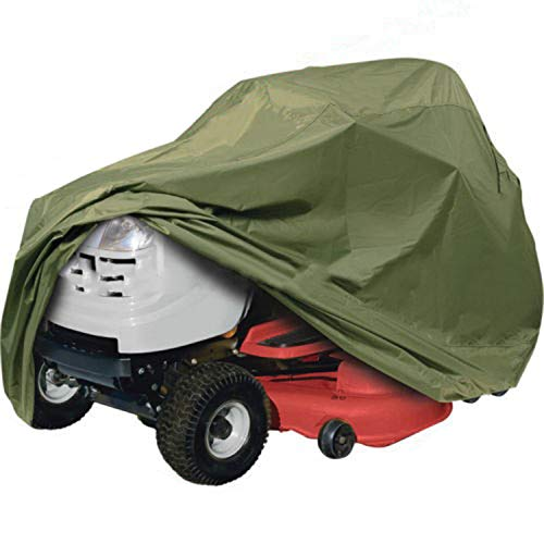 Two Stage Snow Thrower Cover/snow blower cover -Tractor Cover Fits Decks up to 54' Storage Cover Heavy Duty 210D Polyester Oxford , UV Protection,Snow Thrower Cover (54'' snow blower cover-Green)