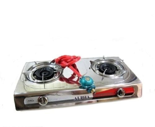 Portable Propane Double Burner Camping Gas Stove T Gate 2 LP Tailgating