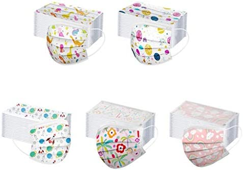 [US Stock] Youngsters Disposable Face Masks Three Ply Non-Woven 50pcs Breathable Youngsters Cute Cartoon Anti-Haze Mud Face Masks for Youngsters by MASZONE