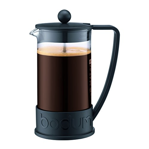 Bodum 10938-01B Brazil French Press Coffee and Tea Maker, 34 Ounce, Black