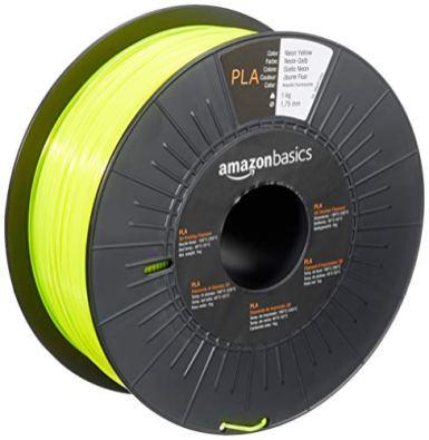 Amazon-Basics-PLA-3D-Printer-Filament-175mm-Neon-Yellow-1-kg-Spool