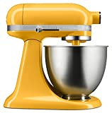 KitchenAid KSM3311XHT Artisan Mini Series Tilt-Head Stand Mixer, 3.5 quart, Hot Sauce