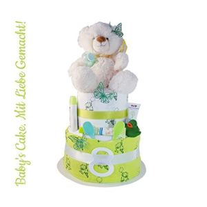 Nappy Cake Neutral > Gift for Birth, Christening, Baby Shower, Newborn, Christening, Baby Shower for Girls and Boys 415OYJLtkRL