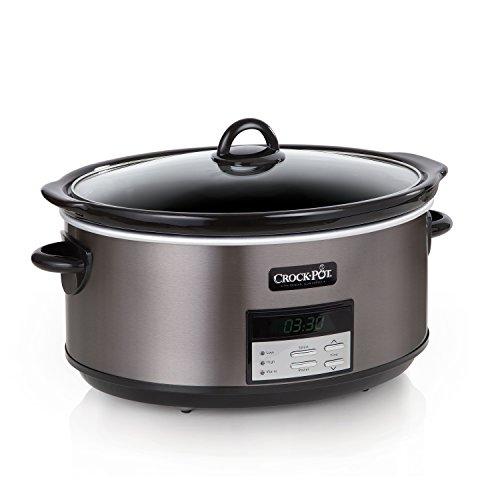 Crock-Pot SCCPVFC800-DS 8-Quart Slow Cooker, Programmable, Black Stainless,