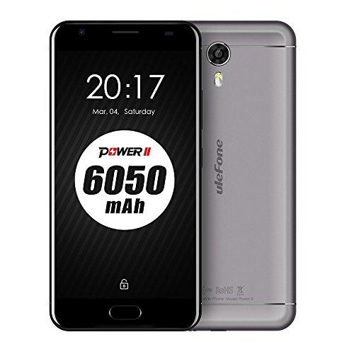 UleFone Power 2 5.5inch Unlocked Dual Sim 4G FDD-LTE Smartphone 4G RAM 64G ROM 6050mAh Battery Android 7.0 FHD 19201080 MTK6750T Octa-Core 1.5GHz 13.0MP+8.0MP Quick Charge Fingerprint WiFi GPS OTG