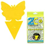 21C Yellow Dual Sticky Fly Traps (10 Pack) for Gnat Whiteflies Fungus Gnats Small Insects Houseplant Eco Friendly Save A Garden Butterfly Shape