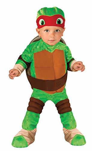 Nickelodeon Ninja Turtles Raphael Romper Shell and Headpiece, Green, Toddler ( 1-2 Years )