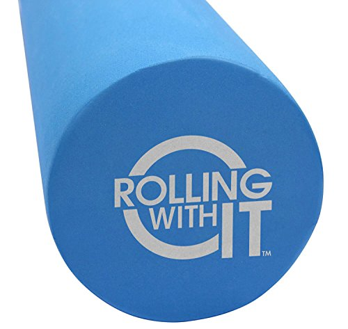 36 Inch Length x 6 Inch Round - The Foam Roller - Best Firm High Density Eco-Friendly EVA Foam Rollers for Physical Therapy, Great Back Roller for Muscle Therapy, Mobility & Flexibility