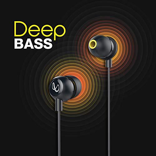 415fGQB1kgL Infinity Zip 20 in-Ear Deep Bass Headphones with Mic (Charcoal Black)