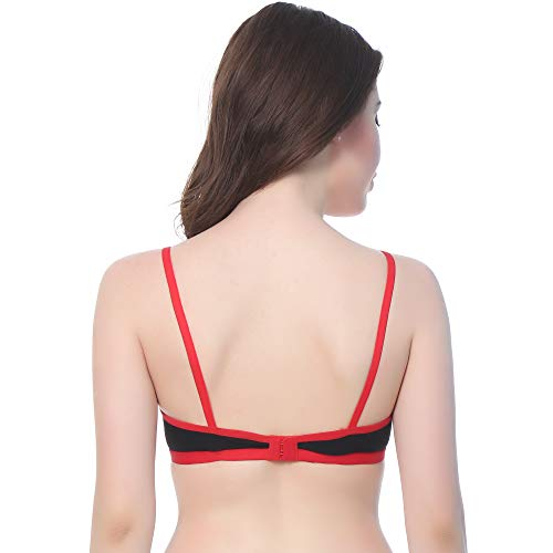 AKHIYAAN Women Cotton Non Padded Non-Wired Regular Bra (Pack of 3) (Multicolor)