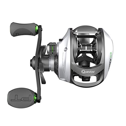 Quantum Energy S3 PT Baitcast Fishing Reel, 10+1 Bearings, 6.3:1 Gear Ratio, Right Hand, Size 100