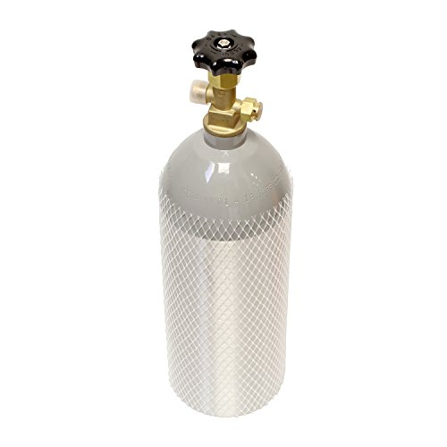 Aluminum CO2 Tank CO2 Cylinder 5lb CO2 With Sherwood brand GV series valve  - For Kegerator CO2 Canister 5 Pound CO2 Tank