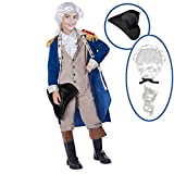 Spooktacular Creations George Washington Costume (Medium (8-10yr)) Blue