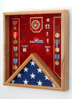 Marine Corps Flag Display Case - Shadow Box