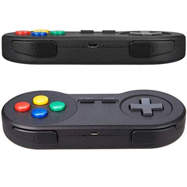 2-Pack-24GHz-Wireless-USB-SNES-Style-Controller-Compatible-with-Super-Retro-Games-iNNEXT-Game-pad-for-Windows-PC-MAC-Linux-Raspberry-Pi-Emulator-Rechargeable-Plug-Play