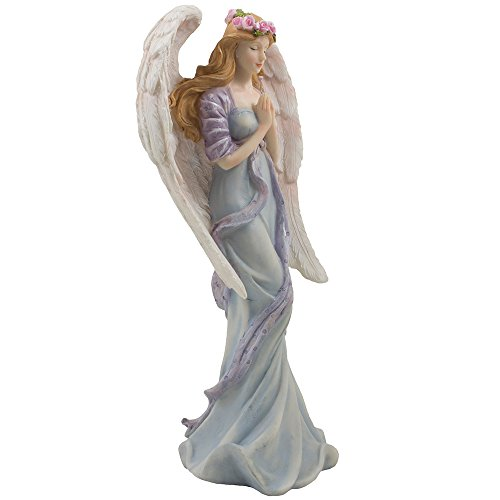 Standing-Praying-Angel-Statue-with-Accents-of-Roses-for-Decorative-Religious-Spiritual-Christian-Decor-Figurines-and-Sculptures-or-Christmas-Decorations-As-Inspirational-Gifts-for-Girls-Room