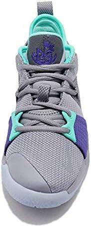 Nike Kids PG 2 (GS) Pure Platinum/Neo Turq Basketball Shoe 6