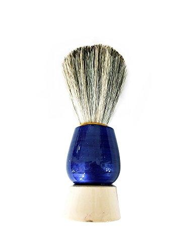 Natural Wood Handle Soft Bristle Shaving Brush for Men Salon Hairdressing Hair Beard Cutting Dust Cleansing Tool- Beard Shaving Brush (Blue) 10