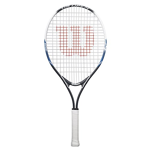 Wilson Junior US Open Tennis Racquet, 25' L, Black/White - 55063