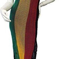 Ladies Riana Rasta Striped Side Split String Knitted Maxi Dress
