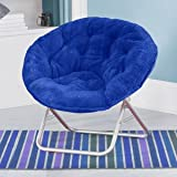 Product review for Blue Plush Saucer Moon Chair Adult Size