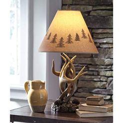 Rustic Antler Table Lamp
