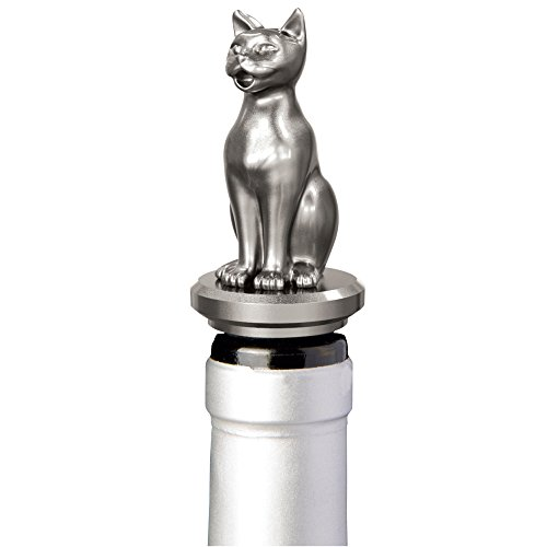 Stainless Steel Cat Wine Aerator Pourer - Deluxe Decanter Spout for Robust Red and White Wine - Pour Amore Bottle Pourer/Stopper & Air Diffuser by Chris's Stuff