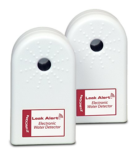 Zircon Leak Alert Water Leak Detector & Flood Sensor Alarm/ Water Leak Sensor with Dual Leak Alarms 90Db Audio/ Battery Powered (2 Pack) Batteries Not Included