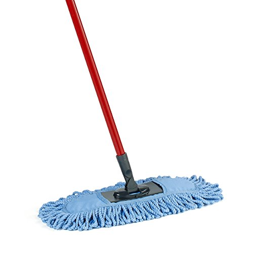 O-Cedar Dual-Action Microfiber Sweeper Dust Mop, Red, Blue