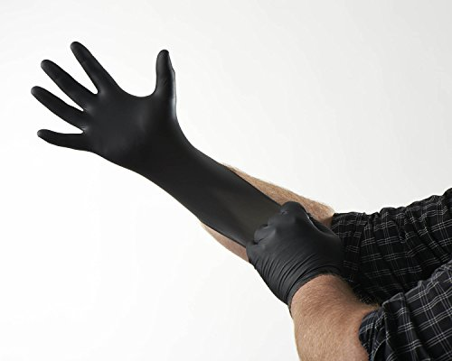 Venom Steel Nitrile Gloves, Rip Resistant Disposable Latex Free Black Gloves, 2 Layer Gloves, 6 mil Thick,  Medium (Pack of 100) deal 50% off 4165yjG3 LL
