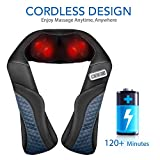 MaxKare Cordless Rechargeable Back Neck Massager Shoulder Shiatsu Massage with 3D Massage Nodes Bidirectional Rotation and Optional Heat Relieve Muscle Pain for Neck Shoulder Leg Waist Massager