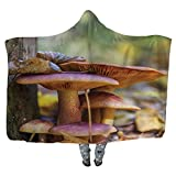 CUDEVS Family of Mushrooms Wearable Blanket,Microfiber Fleece Soft Warm Winter Novelty Wearable Blanket,172746,80''W x 60''H