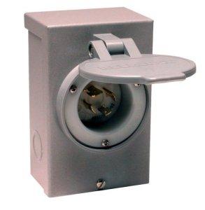 Reliance Controls Corporation PB20 20-Amp NEMA 3R Power Inlet Box for Generators Up to 5,000 Running Watts