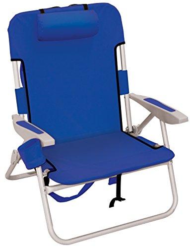 Rio Beach Big Boy Backpack Chair, Blue