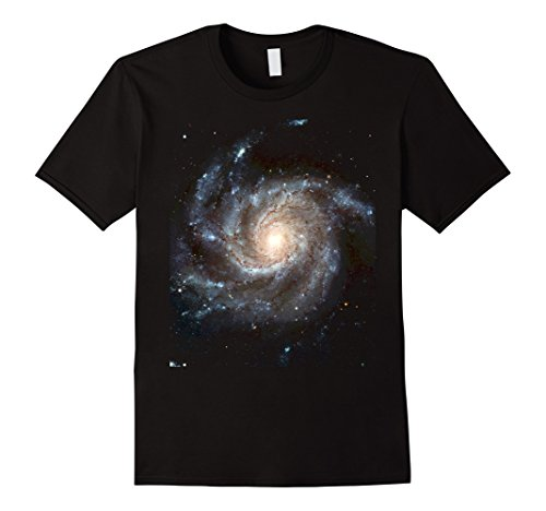 Mens Pinwheel Galaxy Space Astronomy T-Shirt Medium Black