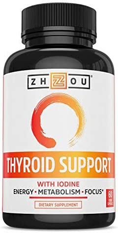 Zhou Nutrition Thyroid Support Complex with Iodine - Energy, Metabolism & Focus Formula - Vegetarian, Soy & Gluten Free - 'Feel Like Your Old Self Again' 3
