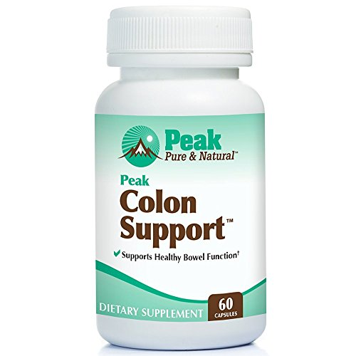 Peak Colon Support from Peak Pure & Natural Colon Support Supplement for Men and Women | Colon Cleanser and Bowel Movement Supplement for Digestive Health | Colon Detox and Cleanse | 60 Capsules