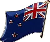 Mikash New Zealand Country Flag Bike Motorcycle Hat Cap Lapel Pin | Model FLG - 3450