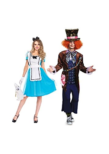 Mad Hatter and Alice Adventure Couple Costume Kit (X-Large)