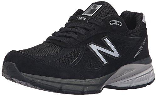 New Balance Women's W990V4 Run Shoe-W, Black/Silver, 7.5 B US